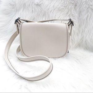 Coach 57731 Glovetanned white Leather Saddle Bag